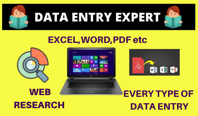 I will do any type of data entry professionally