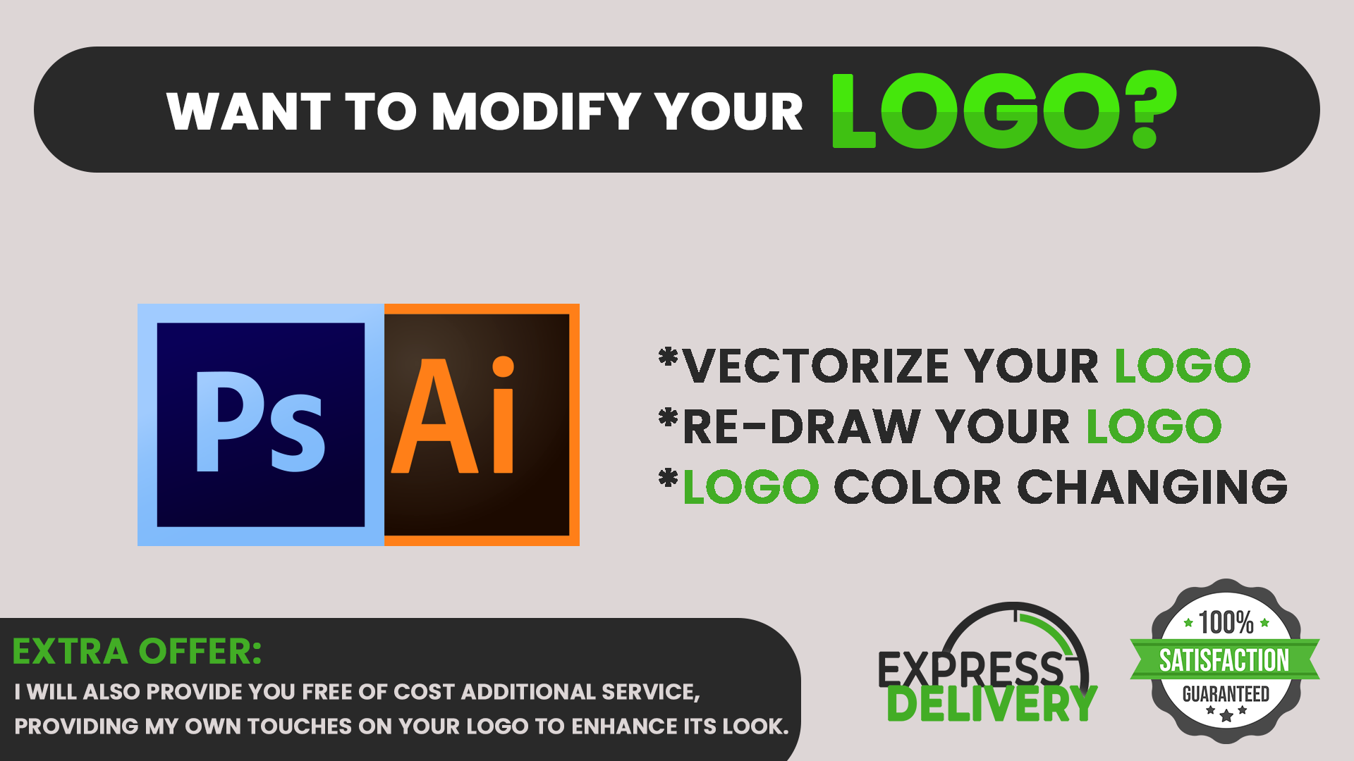 I will redraw your logo,  modify your logo