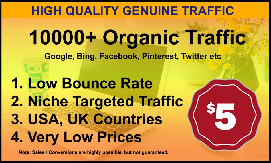 I will drive unlimited genuine web traffic for 7 days