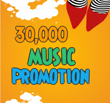 Thirty Thousand High Quality Music promotion real Organic Track