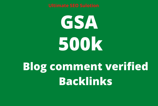 create 500k blog comment seo backlinks