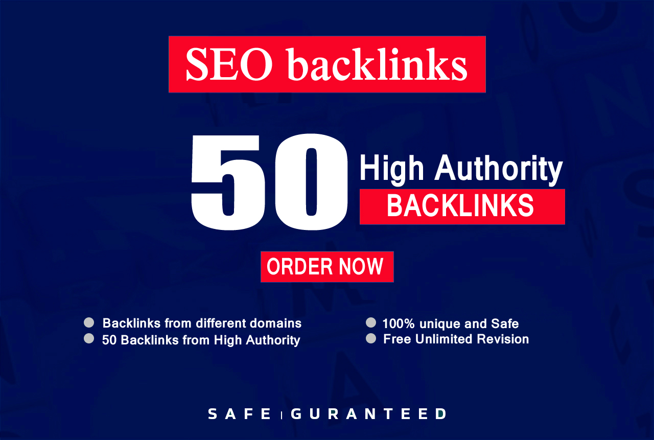 Build High quality 50 SEO backlinks manual link building