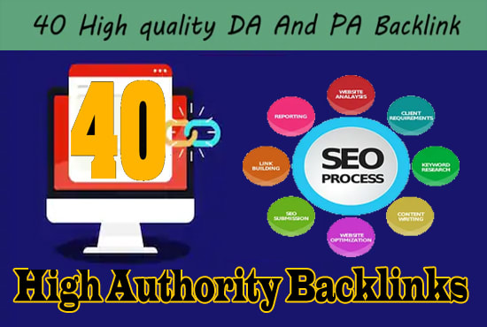 Build DA80+All 40 Powerful High Authorithy SEO Backlinks Manually