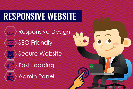 I will design user friendly responsive website