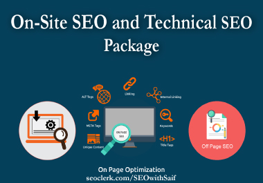 ON-Site SEO and Technical SEO package