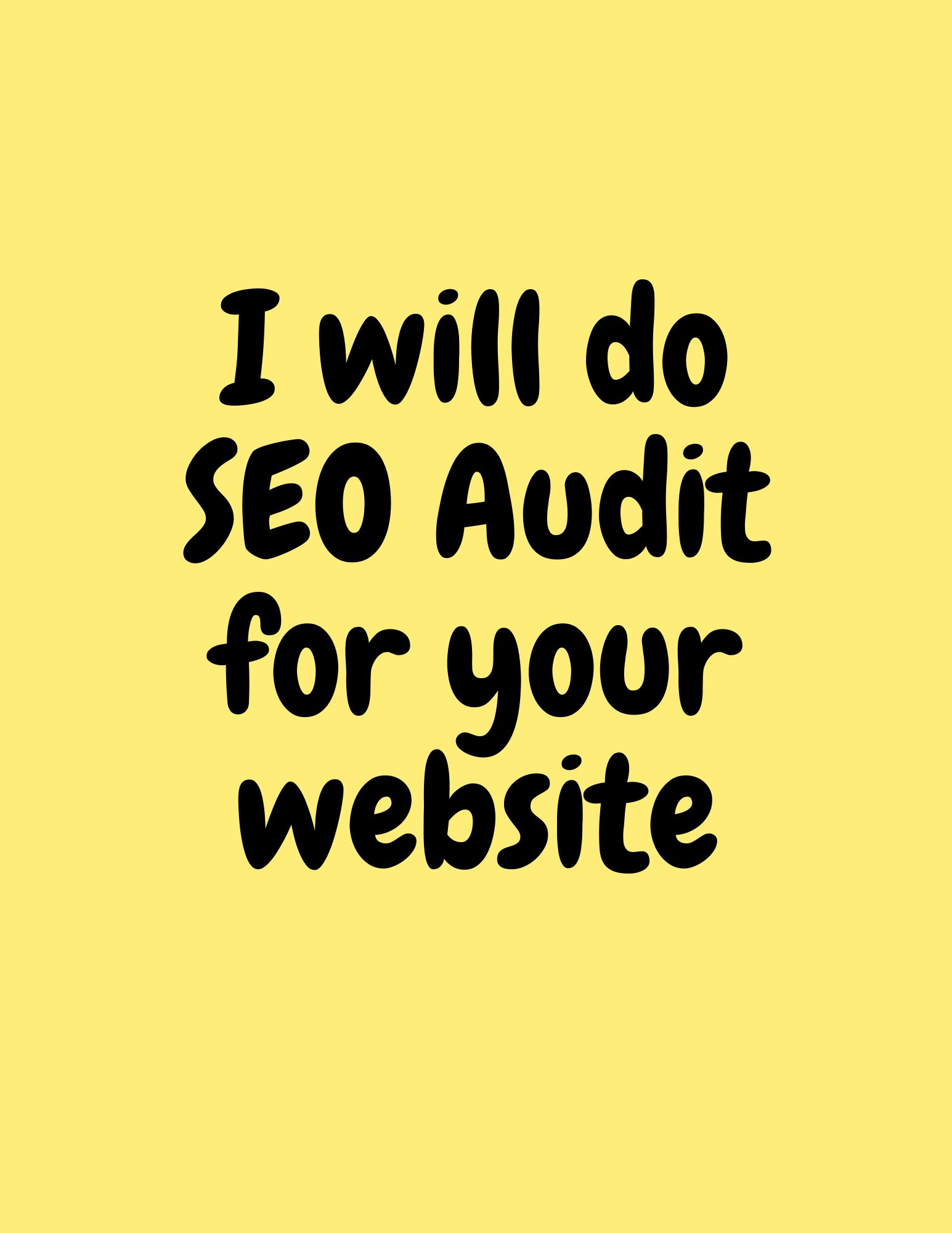 I will do SEO audit for your website