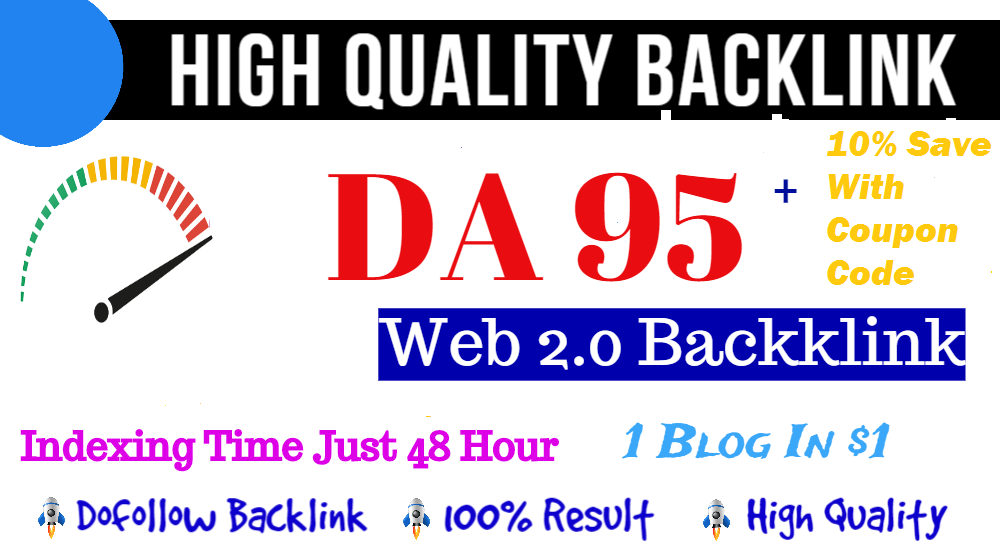 Build Manual High Quality DA 95 Indexed Web 2.0 Dofollow Seo Backlinks