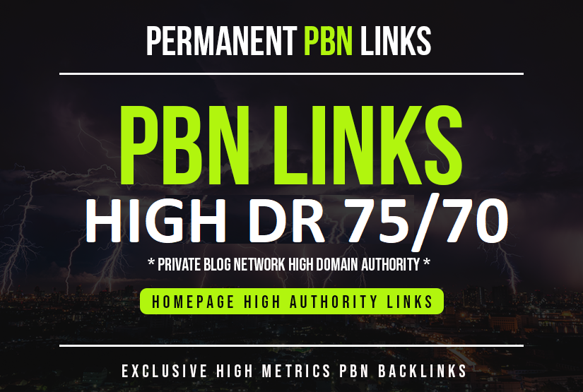 Build 5 Homepage DR 75 High Quality PBN Backlinks For Off Page SEO - High DR Links