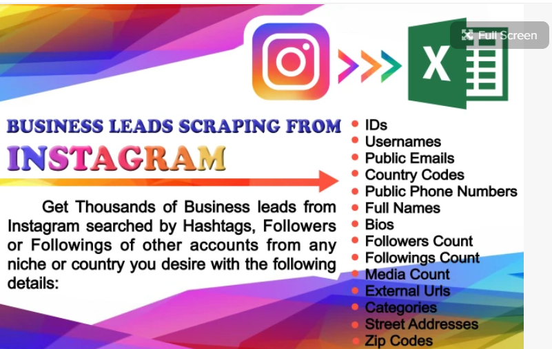 Scrape 1000 business leads from instagram