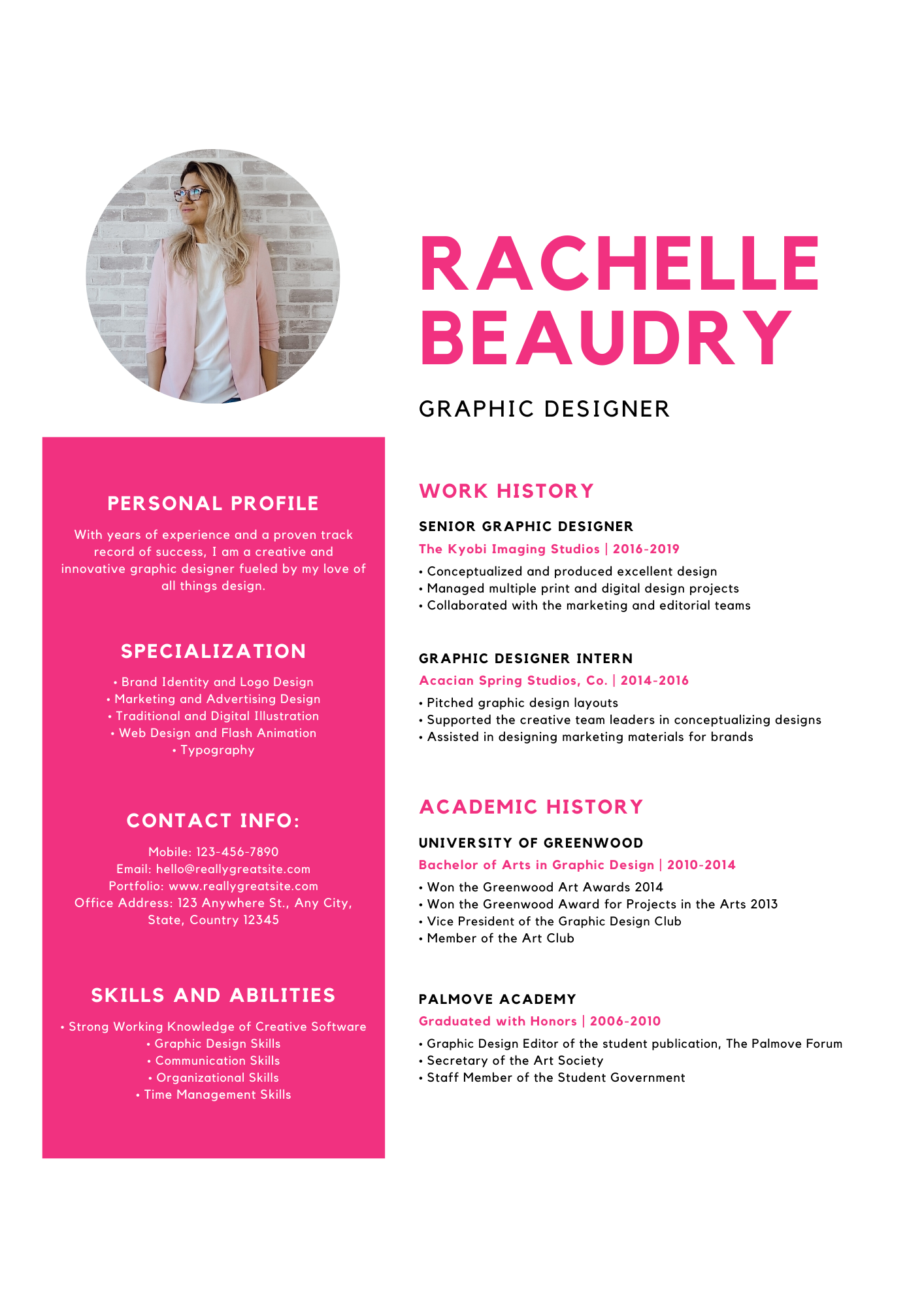 Write and design a quality resume