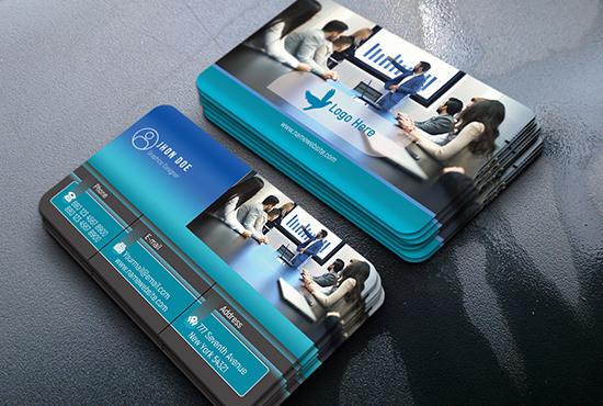 I will do professional business card, unique business card, design.