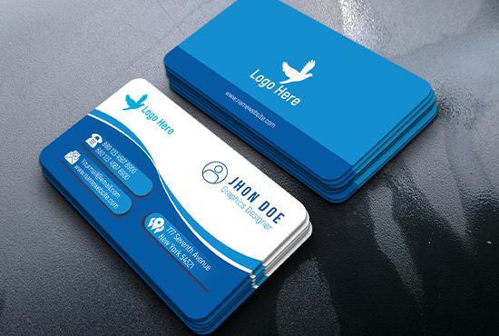I will do professional business card,unique business card,design,