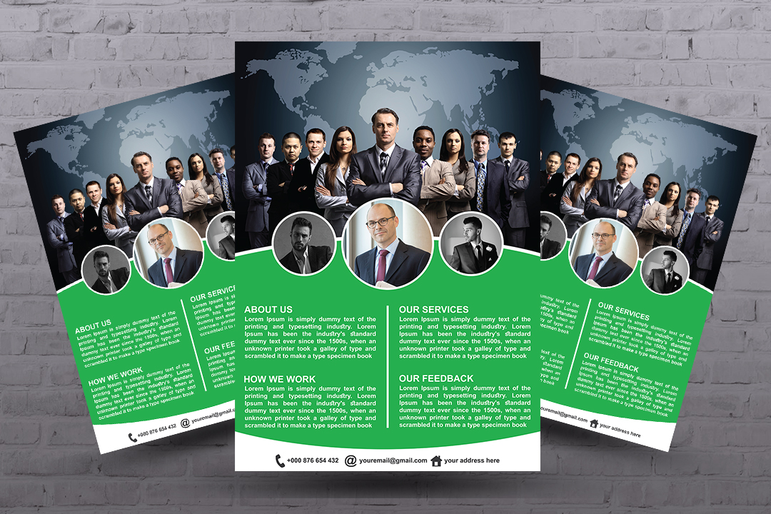 In 3 hours design business flyer, Business flyer