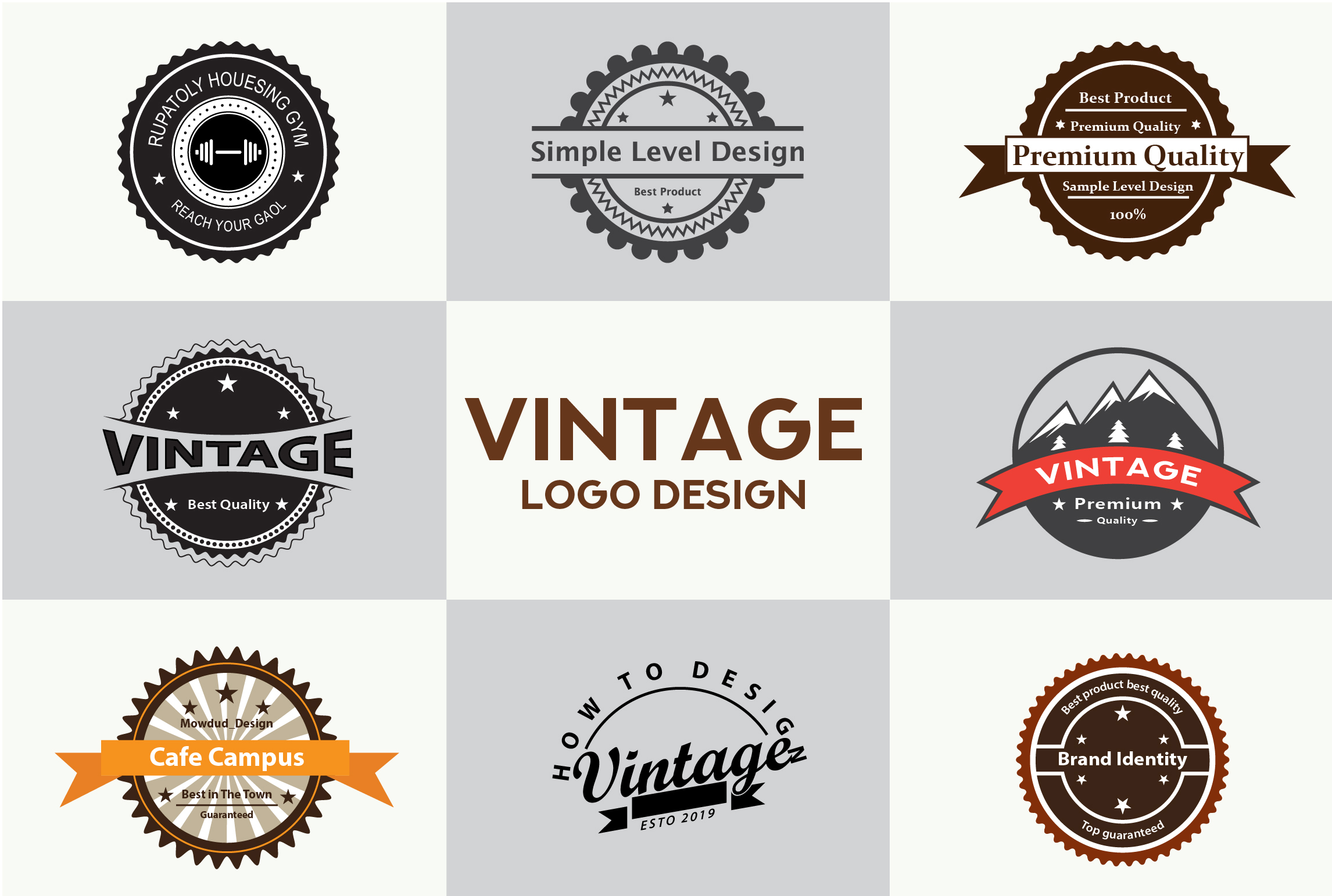 I Will Design an Awesome Business Badge or Vintage Logo