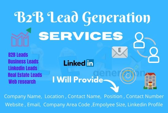 I will do 100 targeted b2b lead or linkedin lead