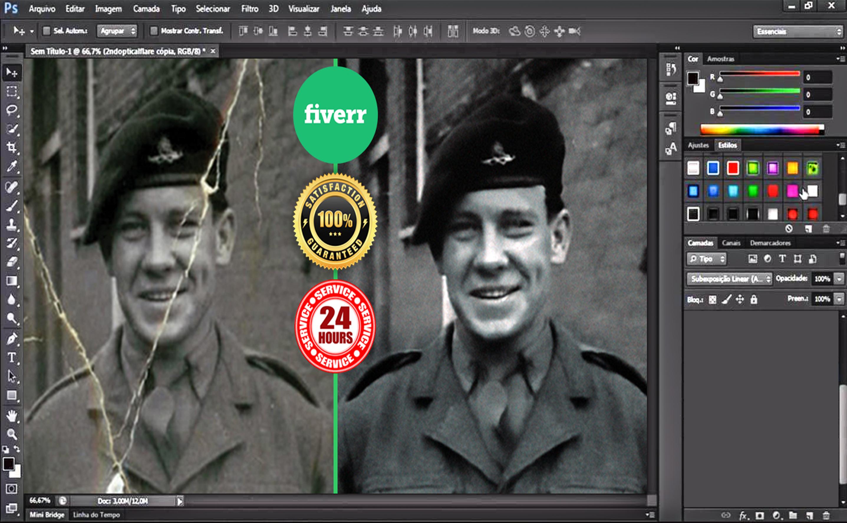 I will do photoshop editing restore image