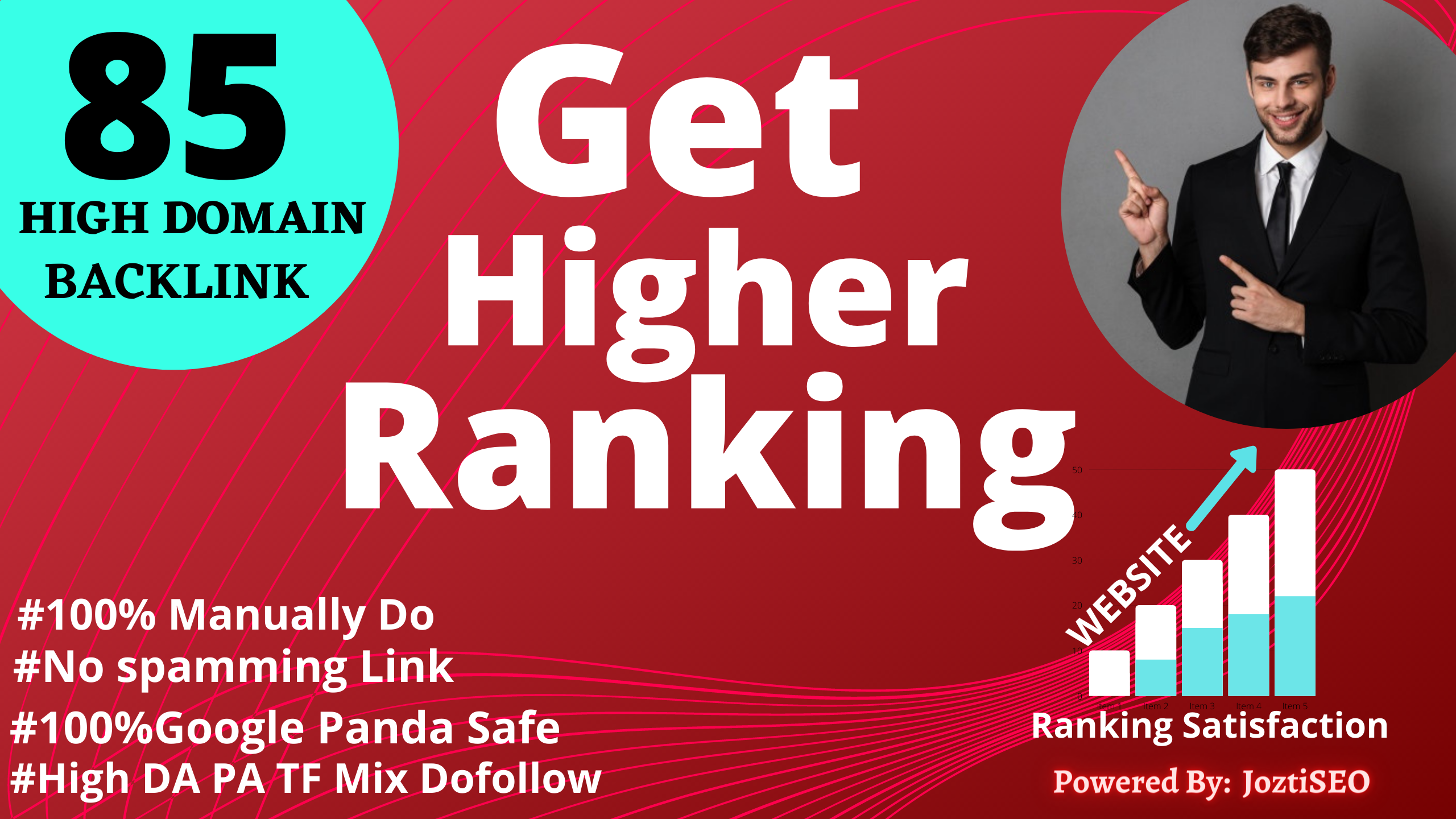 GET HIGHER RANKING WITH 85 DA PA TF High Doamin Authority Backlinks