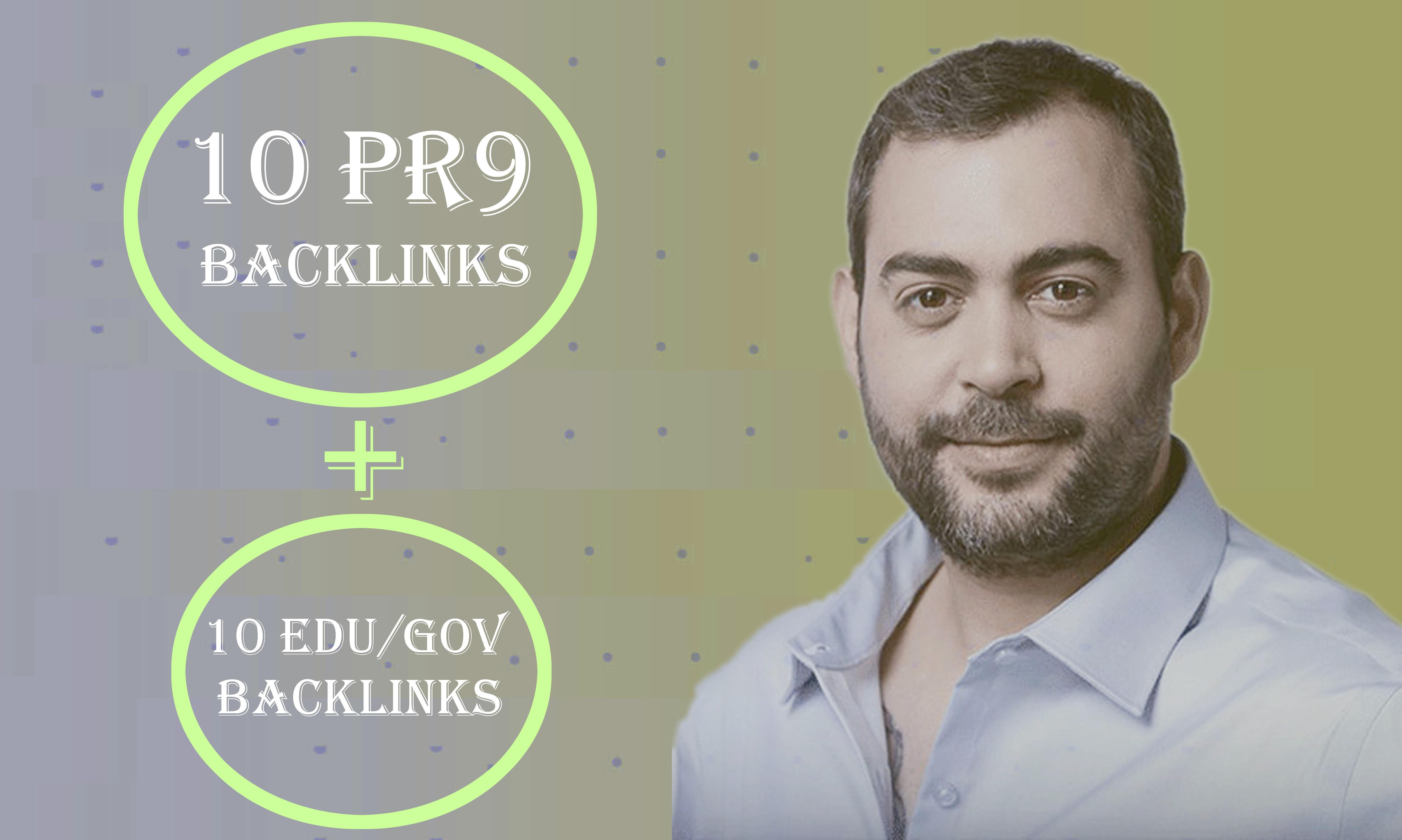 Manually Top 10 Pr9+10 EDU/GOV Safe SEO High Quality Profile Backlinks