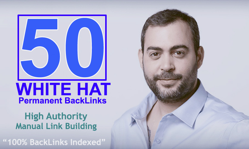 50 White Hat High Authority Permanent Back Links Only JoztiSEO