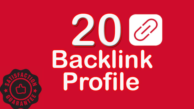 create 20 social media profile backlinks