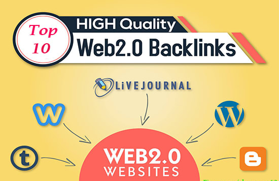 Create 10 Super Blog Web2.0 High Quality Backlinks