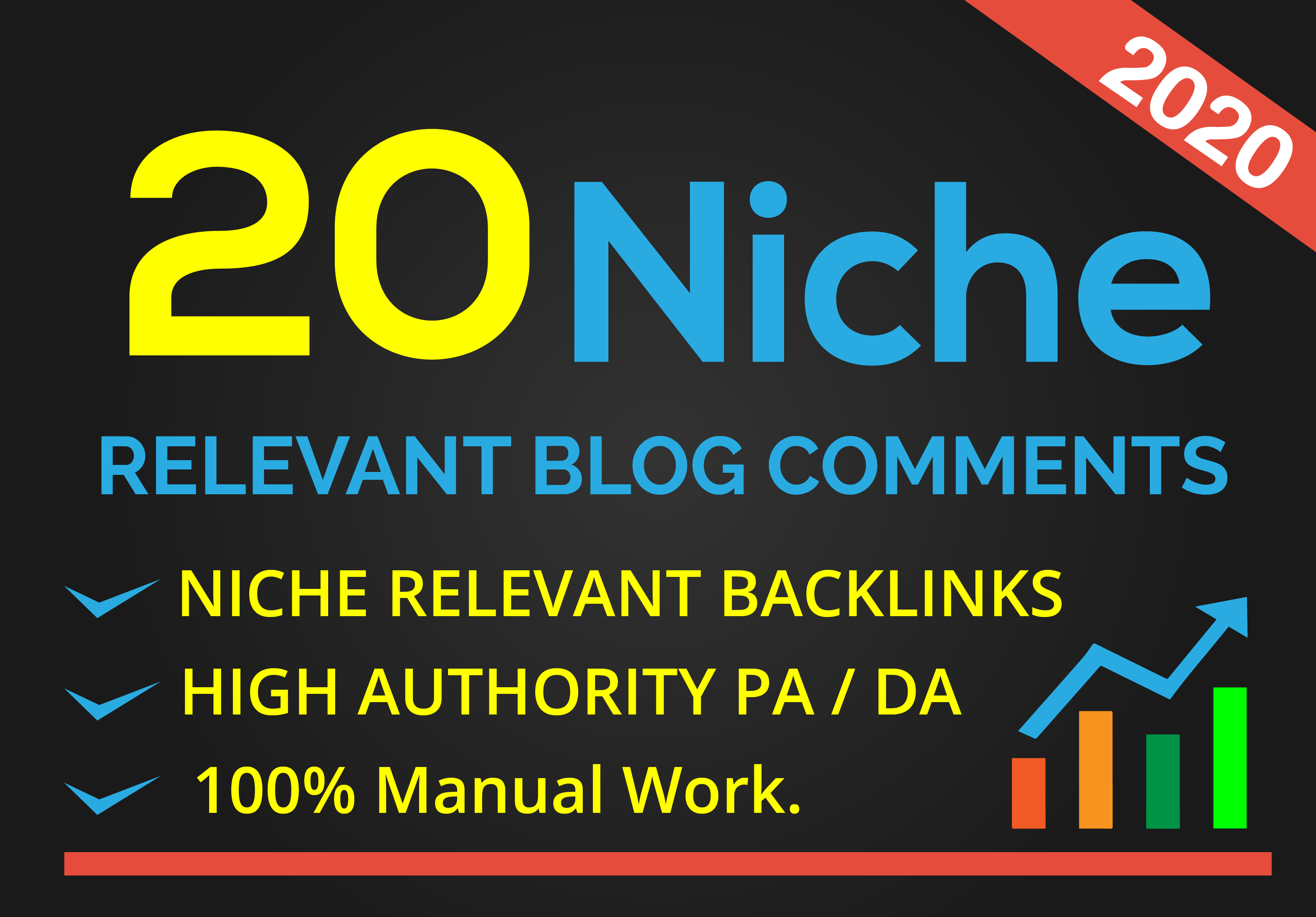 I will do 20 real site niche backlinks blog comments