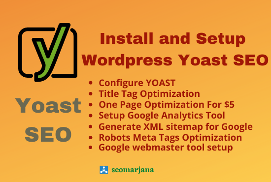 I Will Install and Setup Wordpress Yoast SEO Plugin