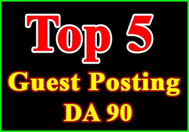 publish 5 guest post on high da backlinks