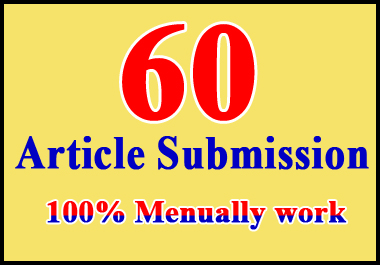 Provide 60 dofollow article submission or high da-pa backlinks