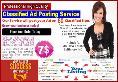 I will do 60 Top Classified ad posting on High DA Backlinks
