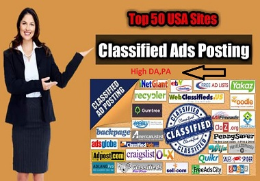 I will do 50 top classified ad posting site with SEO backlinks for your website