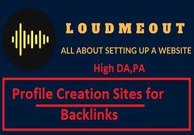 I will setup 50 social media profile creation with high DA, PA or profile backlinks