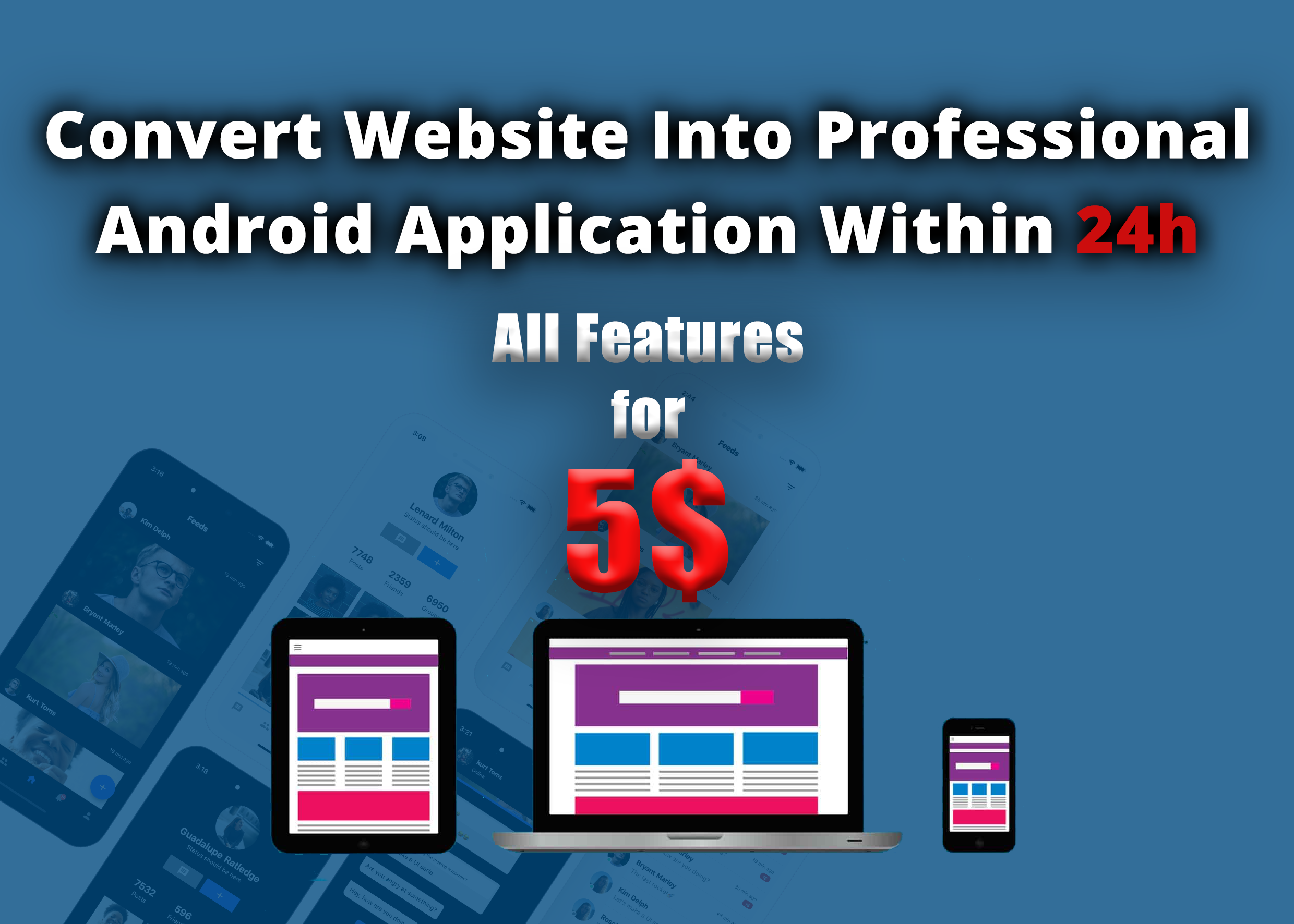 Android application For Your Website With Push Notifications and Admobs