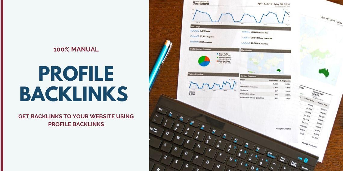 I will create 20 high quality profile backlinks