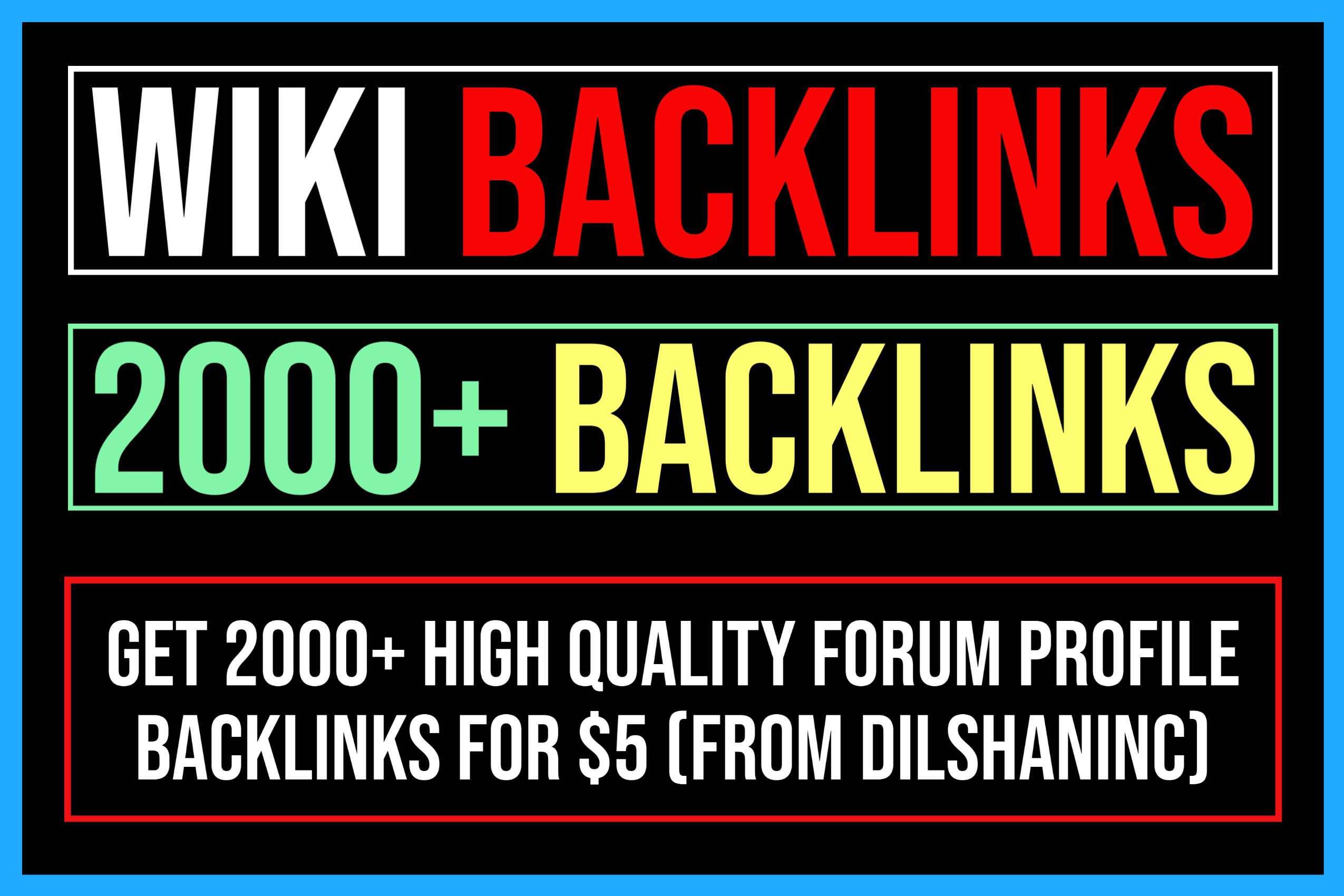2000+ High Quality Wiki Articles Backlinks