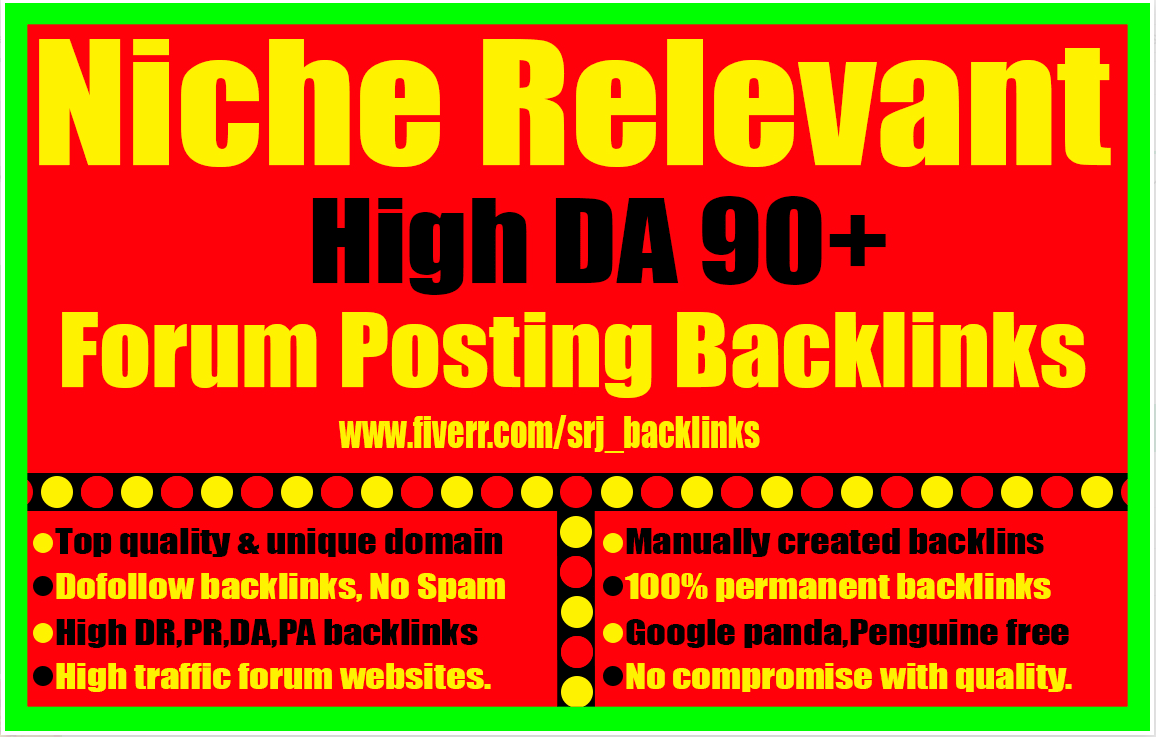 I will create 50 high quality and high authority forum posting backlinks