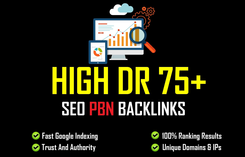 I will build 50 high da do follow backlinks of high quality on high da sites