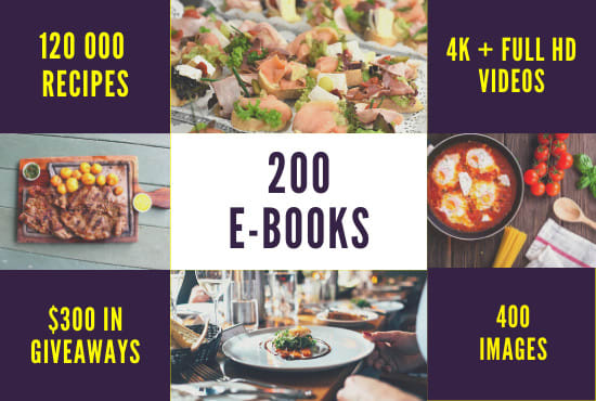 Food Recipes in more than 150 Ebooks & Food Stock Images,  Videos