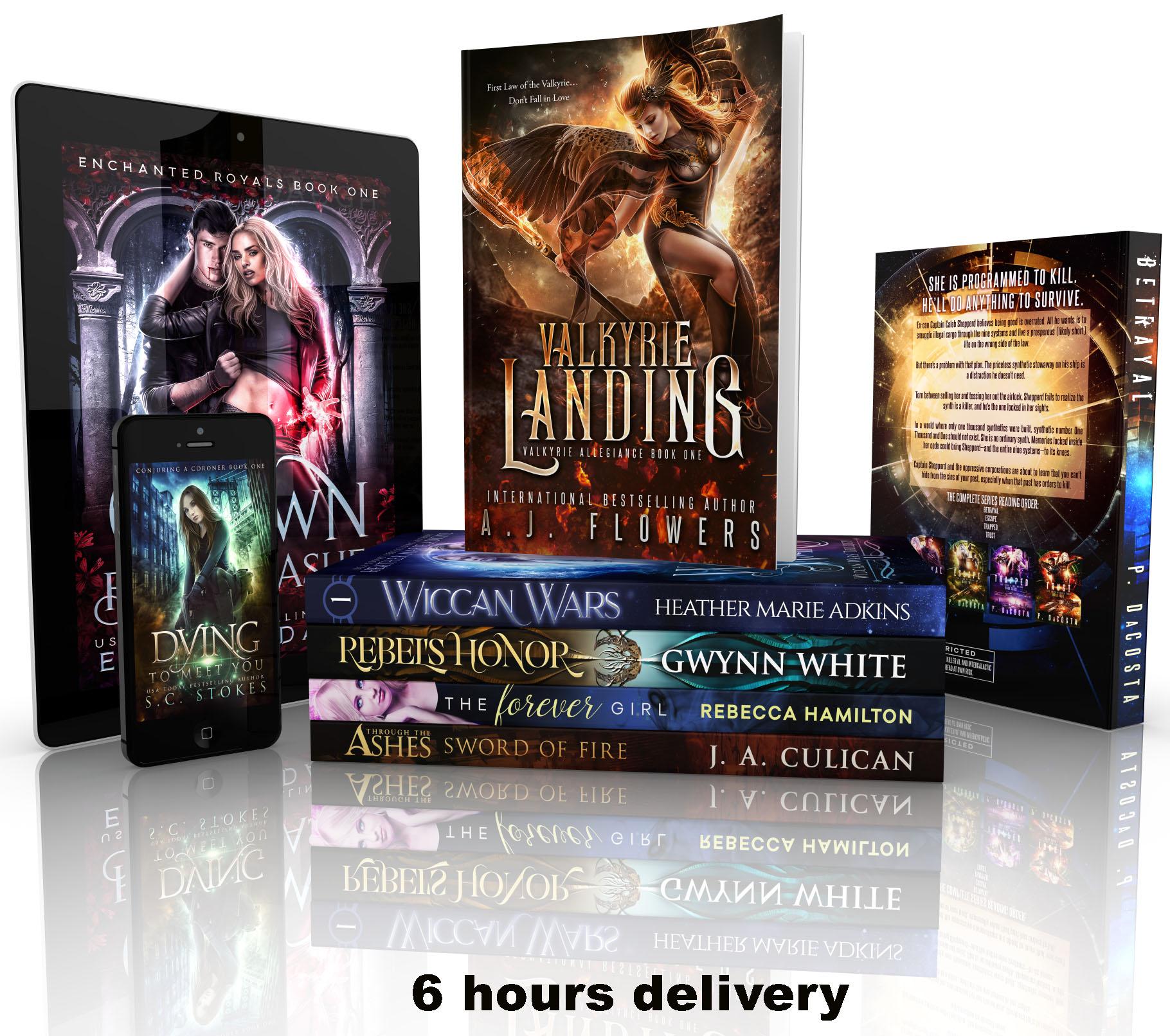 I will create a unique book cover design in 6 hours