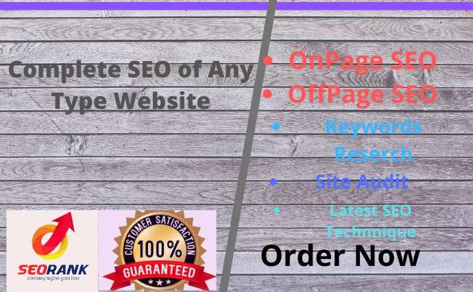 I will do complete Onsite SEO for your Website