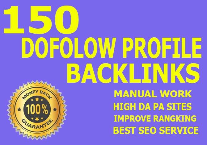 Carete manually 150 Dofollow Forum And Profile SEO Backlinks.