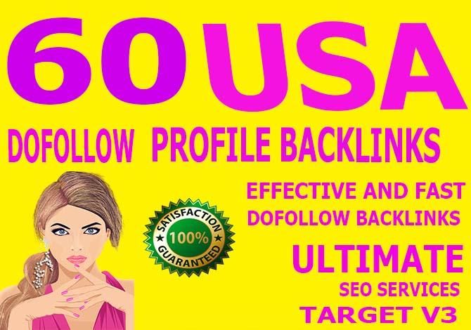 Carete manually 50 usa Dofollow Profile Backlinks