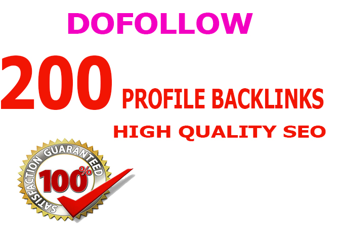 Manually create 200 pr9 dofollow profile backlink for your website