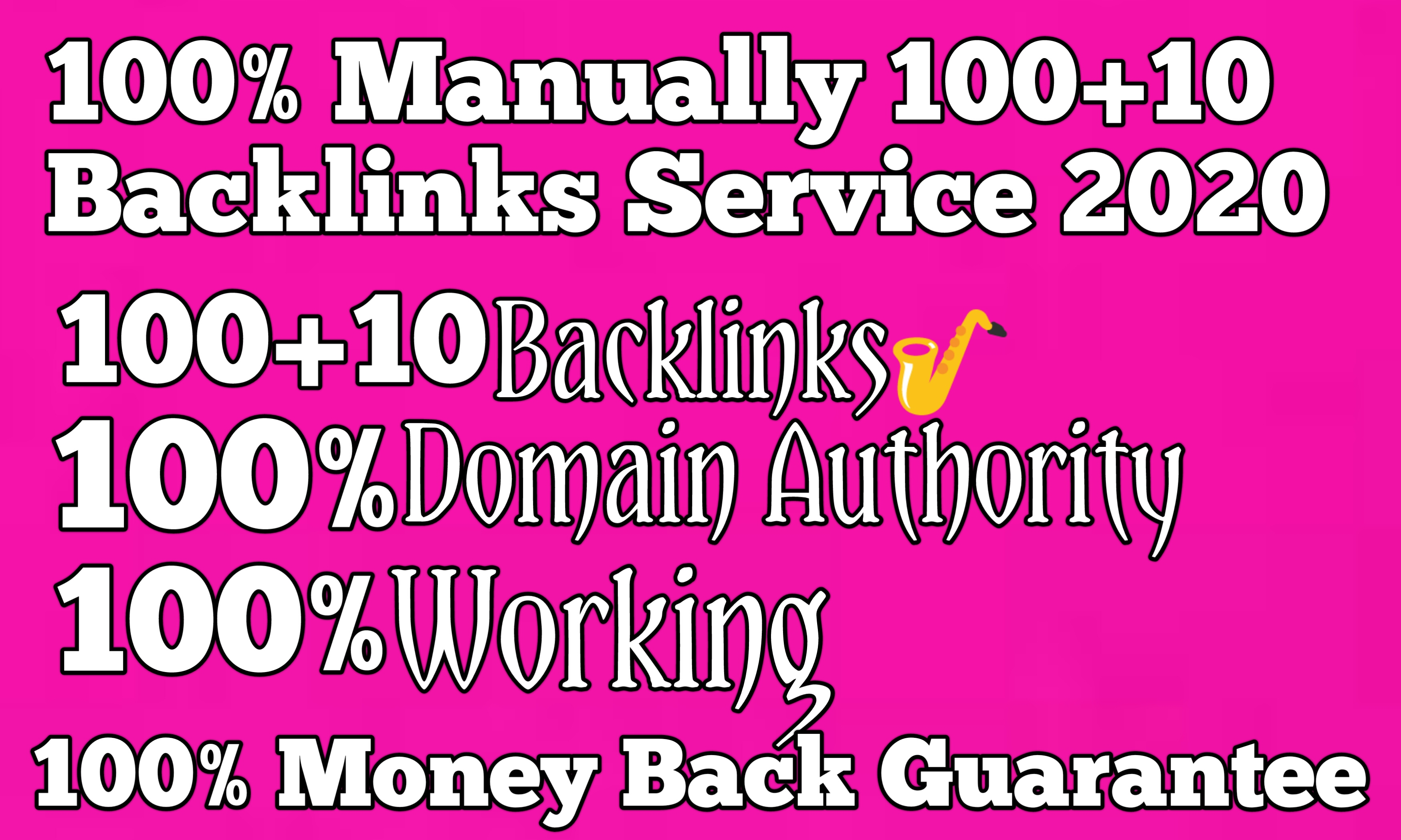 I Will Do 100+10 HQ Backlinks from High DA/PA 60+ Domains