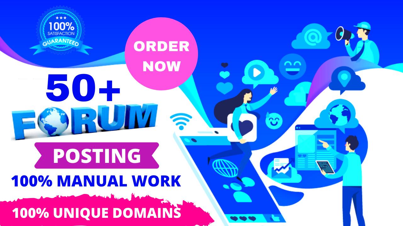 50+ Forum Posting Backlinks On High DA PA For Best SEO Your Website