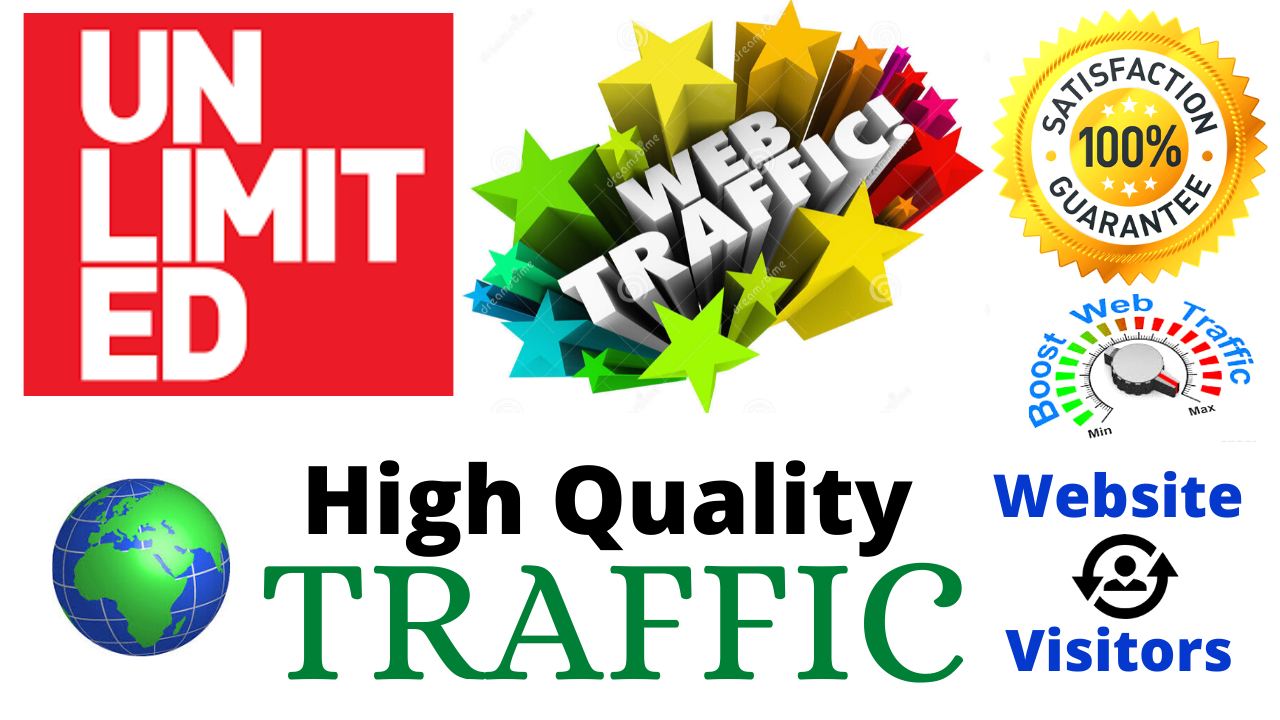 Unlimited Real Human Website Traffic By Facebook Google Twitter Youtube Bing Yahoo & Many More