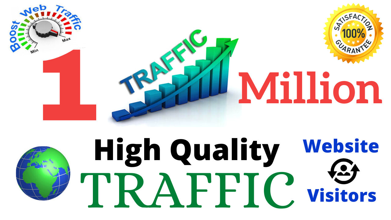 1 Million Worldwide Real Targeted Website Traffic Visitors to Your Web or Blog Site For 30 Days