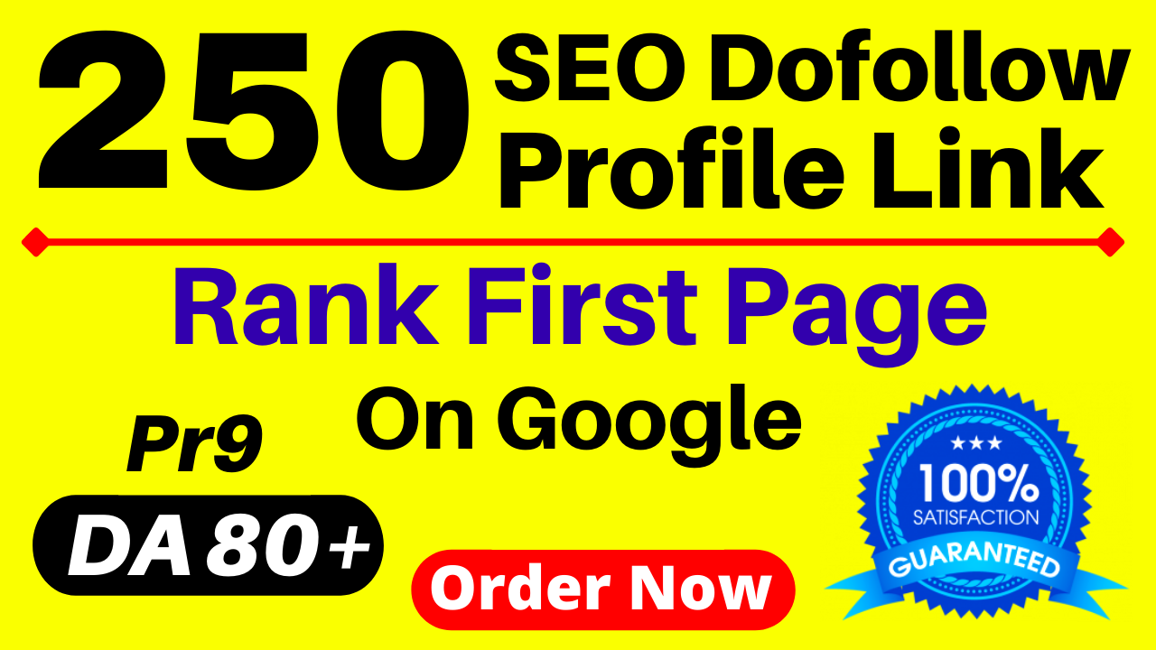 Manually 250 SEO Do-Follow High Authority Profile Backlinks About. me Quora Ted Myspace Scribd Etc