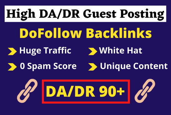 I will do guest posting on da DR 90 plus edu sites