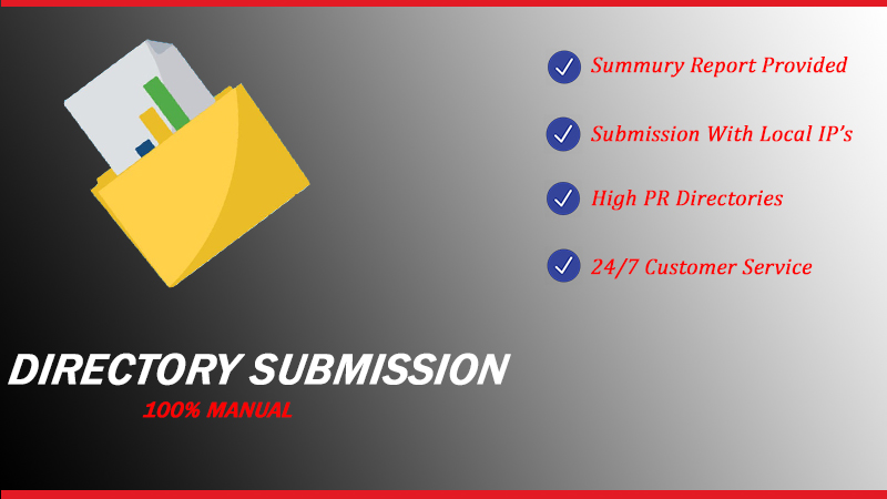 I Will do high PR Directory Submission Manually